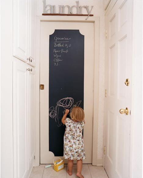Kid-Friendly Chalkboard Paint on Door-2