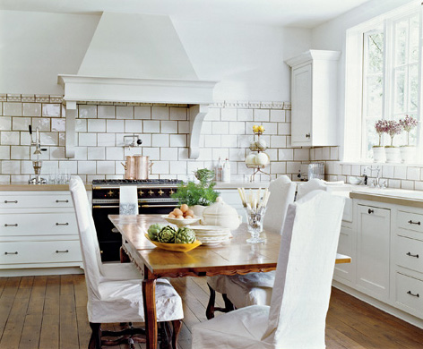 Slipcovers on Kitchen Chairs-2