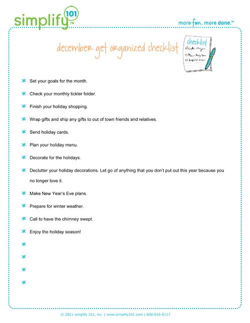 December---checklist