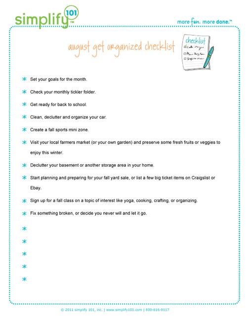 August-checklist