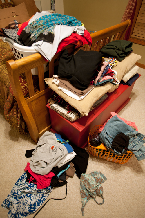 Piled-clothes