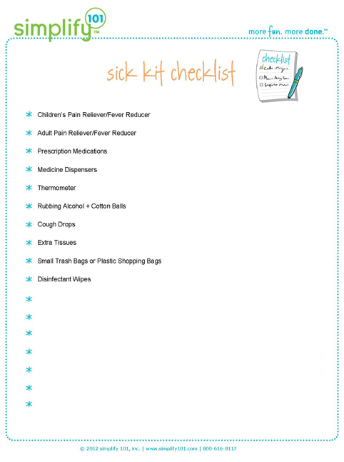 Sick-kit-checklist
