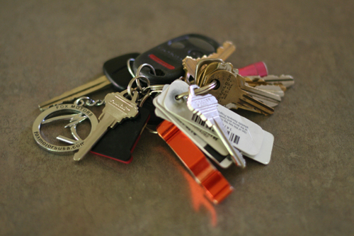Cluttered key chain-72