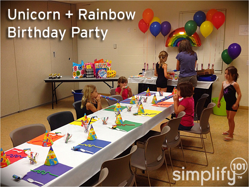 Rainbow birthday party - simplify 101