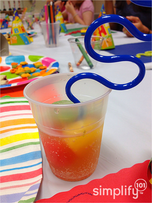 Rainbow birthday punch - simplify 101