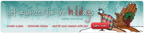 Get Organized for the Holidays Online Workshop
