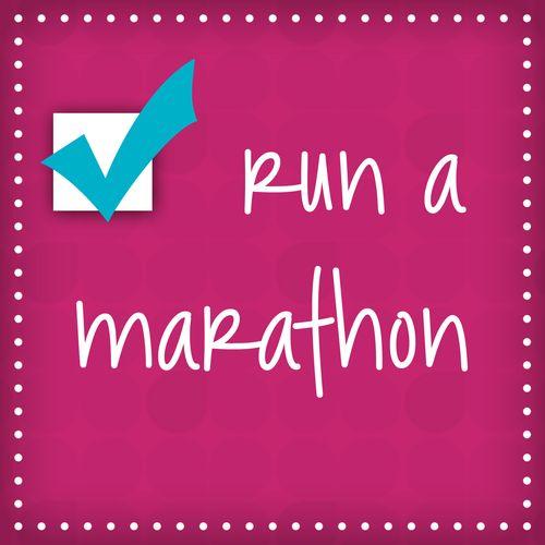 Run a Marathon - Check